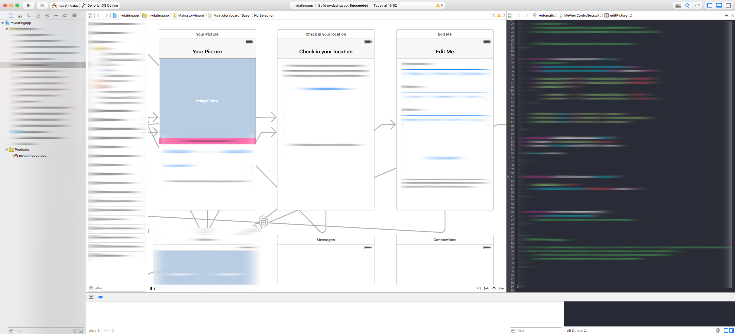 Xcode storyboard dating app